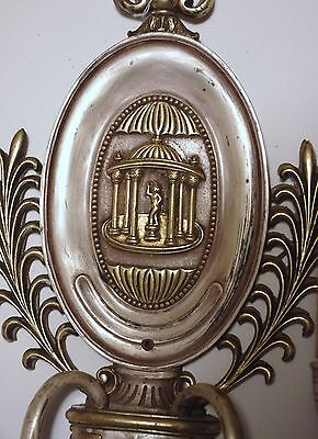 Pair (2)  E. F. Caldwell Bronze Sconces With Silver, Gold Back Plate. Offers! 6