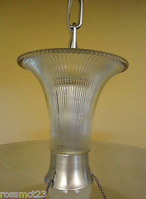 Vintage Lighting 1930s Moe Bridges chrome glass 200W chandelier   More Available 5