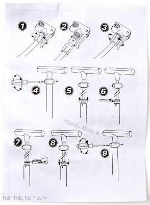 Park Tool 1081K Head & Gasket Rebuild Kit for PFP-3 PFP-6 PFP-8 Bike Floor Pump