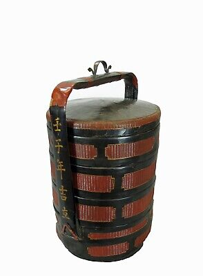 Chinese Antique Bamboo Food Basket 2