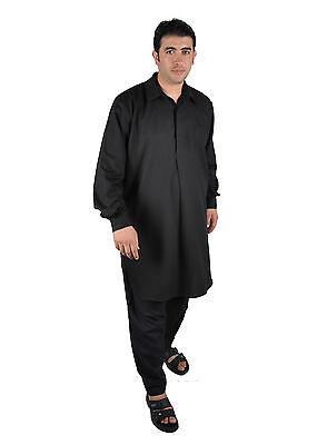 Due pezzi Salwar Kameez insieme Pantaloni Tunica in Stile pakistano nero 3