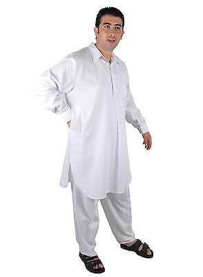 Due pezzi Salwar Kameez insieme Pantaloni Tunica in Stile pakistano bianco 2