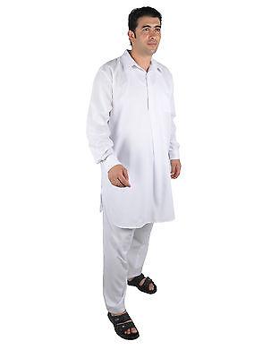 Due pezzi Salwar Kameez insieme Pantaloni Tunica in Stile pakistano bianco 3