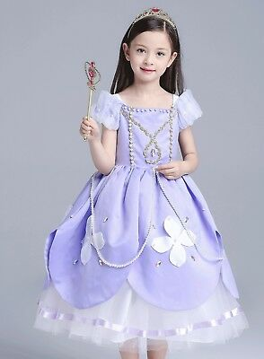 Sofia The First Toddler Baby Girl Princess Tutu Dress Cosplay Party Costume ZG9