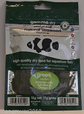Tropical Marine Centre Marine Aquarium ALGUE Nourriture pour poissons Vert