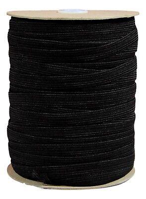 White Or Black Flat Elastic Sewing Dressmaking Woven 5-8-12-19-25-50mm Widths 2