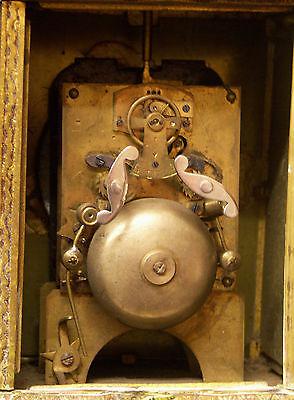 C1 1900 MUCHA superbe pendule pendulette Art nouveau bronze 17c1.7kg clock déco 11