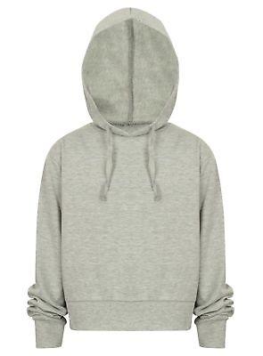 Cropped Hoodie Top Ladies Girls Pullover Hoodies Sweatshirt Hoody New Jogging 6