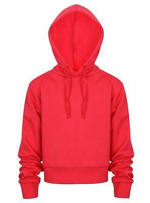 Cropped Hoodie Top Ladies Girls Pullover Hoodies Sweatshirt Hoody New Jogging 4