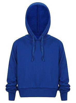 Cropped Hoodie Top Ladies Girls Pullover Hoodies Sweatshirt Hoody New Jogging 3