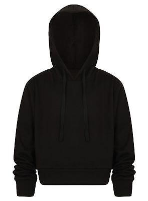 Cropped Hoodie Top Ladies Girls Pullover Hoodies Sweatshirt Hoody New Jogging 8