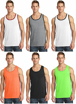 New Men's Tank Top Muscle Workout T-Shirt Tie Dye Dyed Died Two Tone Sleeveless 2