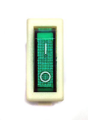 5pc Rocker Switch R12 On-Off 3P 16A 125//250VAC Cap= Green R121-12C-18 PRONIC