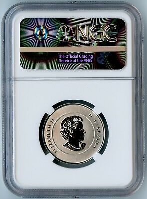 2017 Canada Ngc First Day Of Issue Sp70 Proudly Canadian Glow In The Dark S$5! 2