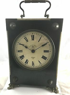 Antique French Black Carriage  Clock By Duverdrey & Bloquel 4