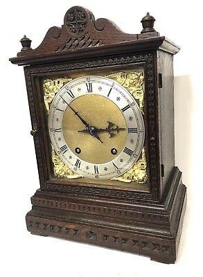 WINTERHALDER HOFFMEIER W & H Antique Oak Bracket Mantel Clock SERVICED 2