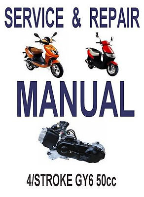 CHINESE SCOOTER 50CC GY6 Service Repair Shop Manual on CD Qingqi jmStar VIP