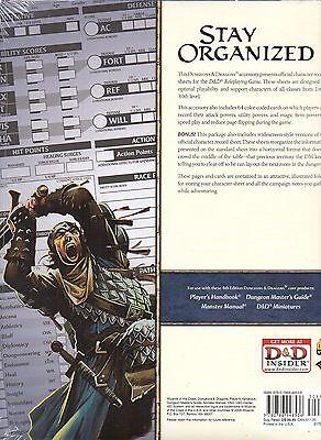 Dungeons & Dragons-D&D-Character Record Sheets-Rollenspiel-RPG-d20-OVP-new-neu
