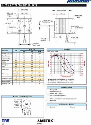 Motore passo a passo arduino CNC Stepper motors MAE HY200 2220 141 A4 3
