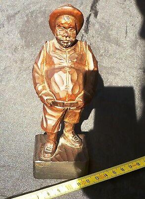 """Iconica e bella statuina in legno Vintage originale """"Sancho Panza"""" 4"""