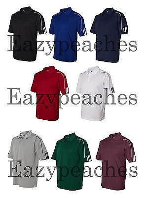 ADIDAS GOLF NEW Climalite Men's Size S-3XL Three Stripes Polo Sport Shirt, A76 2