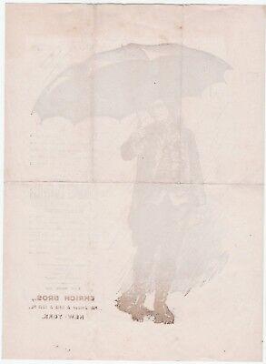 RARE Advertising Broadside - Wm Drown Co Columbia Umbrellas 1870s Ehrich Bros NY 3