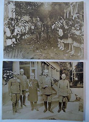 RARE Orig Photo LOT WWI German Soldier Hindenburg 1916 Ludendorff Kaiser Wilhelm 4