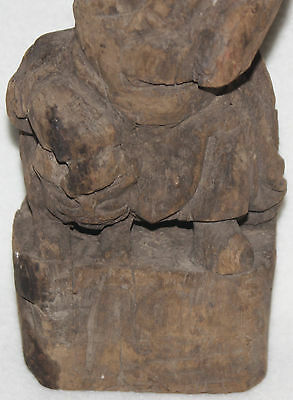 Rare Chinese Ming Dynasty 14th-15th Century Zhang Guo Lao Wood Figure