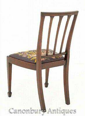 Mahogany Hepplewhite Dining Chairs Set 8 Antique Diners 6