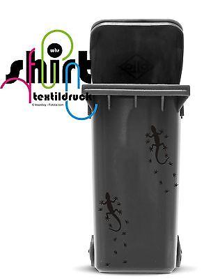 A 212 - 2er Set Eidechse Gekko Fußspuren Kühlschrank Tattoo Aufkleber Wandtattoo 2