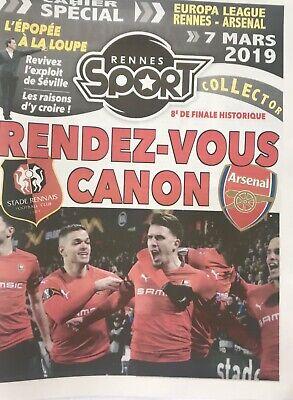 Rennes (Stade Rennais) V Arsenal 7:3/19. Europa League Programme & Sport Journal 5