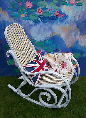 Antique French Rocking chair bergere chair nursing chair shabby chic vintage 5