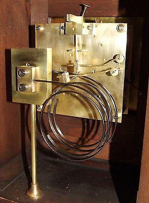 Antique Oak & Brass TING TANG Bracket Mantel Clock : CLEANED & SERVICED (a60) 12