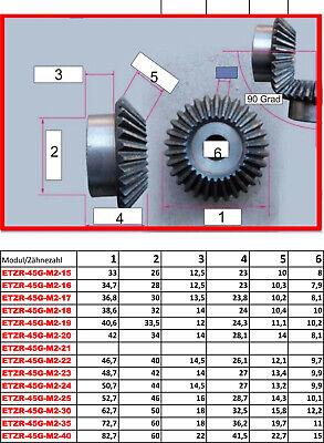ETZR-45G-M1-25Z  Zahnrad Kegelrad Modul1 25 Zähne 45 Grad für Übersetzung 1:1 3