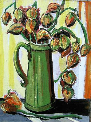"C311    Original Acrylic  Painting By Ljh  ""Rose Bowl"" 11"
