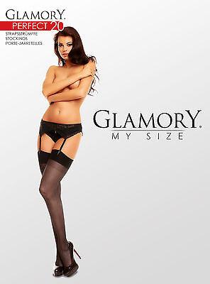 Glamory Perfect 20 Straps-Strümpfe Strapse bis Gr.62 Größe/Farbe wählbar, 50131 3