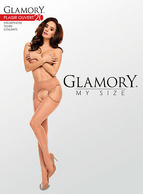 Glamory Plaisir 20 DEN Ouvert Straps-Strumpfhose Pofrei offen Erotik Reizwäsche 4
