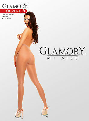 Glamory Overt Schritt offene Strumpfhose bis große Größe 62 9cm offen 50129 2