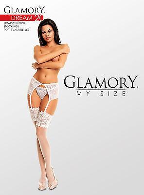 Glamory Dream 20 Straps-Strümpfe Große Größe 62 4XL champagner schwarz make up 2 • EUR 16,95