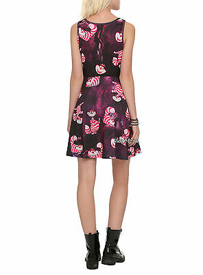 c3298228f 1 of 11FREE Shipping Cheshire Cat Fit & Flare Skater Dress Disney Alice in  Wonderland JUNIORS S-L