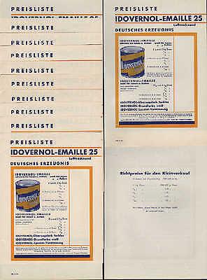HAMBURG Preislisten 1964 Reichhold Flügger&Boecking Lackfabriken Idovernol Email 2