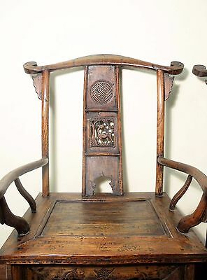 Antique Chinese High Back Arm Chairs (5511) (Pair), Circa 1800-1849 2