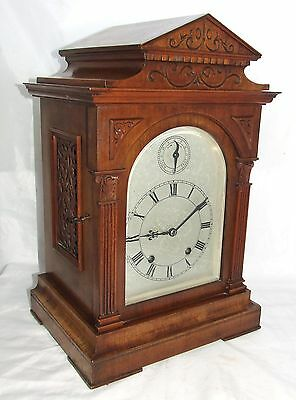 # Antique LENZKIRCH Walnut TING TANG Bracket Mantel Clock : SERVICED & WORKING 3