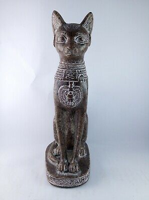 ANCIENT EGYPTIAN ANTIQUE STATUE Of Figurine Egypt Cat Goddess Bast Bastet 945 Bc 2