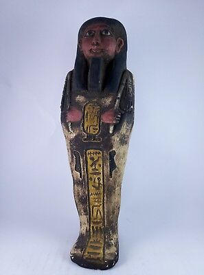 RARE ANCIENT EGYPTIAN Antique Egypt Statue Hieroglyphs USHABTI Shabti Stone Bc 6