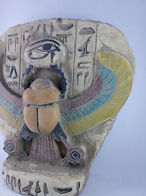 RARE ANCIENT EGYPTIAN ANTIQUES Scarab and Eye of Horus Goddess Egypt Stone Bc 4
