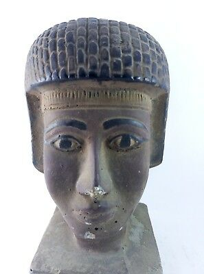 RARE ANCIENT ANTIQUE EGYPTIAN Gods Statue King Seti Ii Head 1200-1194 Bc 6