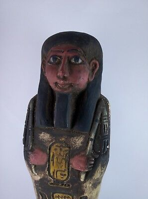 RARE ANCIENT EGYPTIAN Antique Egypt Statue Hieroglyphs USHABTI Shabti Stone Bc 2