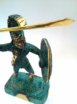 Ancient Greek Bronze Museum Statue of 300 Leonidas King Of Sparta Collectable
