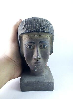RARE ANCIENT ANTIQUE EGYPTIAN Gods Statue King Seti Ii Head 1200-1194 Bc 2